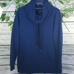 Tommy Hilfiger high slouchy neck cowl hoodie Small